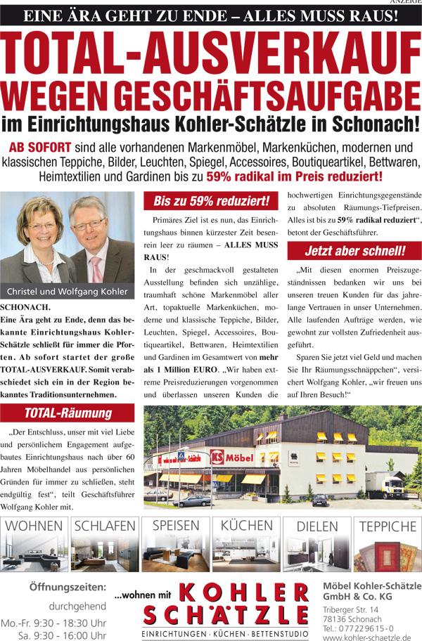 Einrichtungshaus Freiburg aktuelles in schonach im raum freiburg offenburg villingen