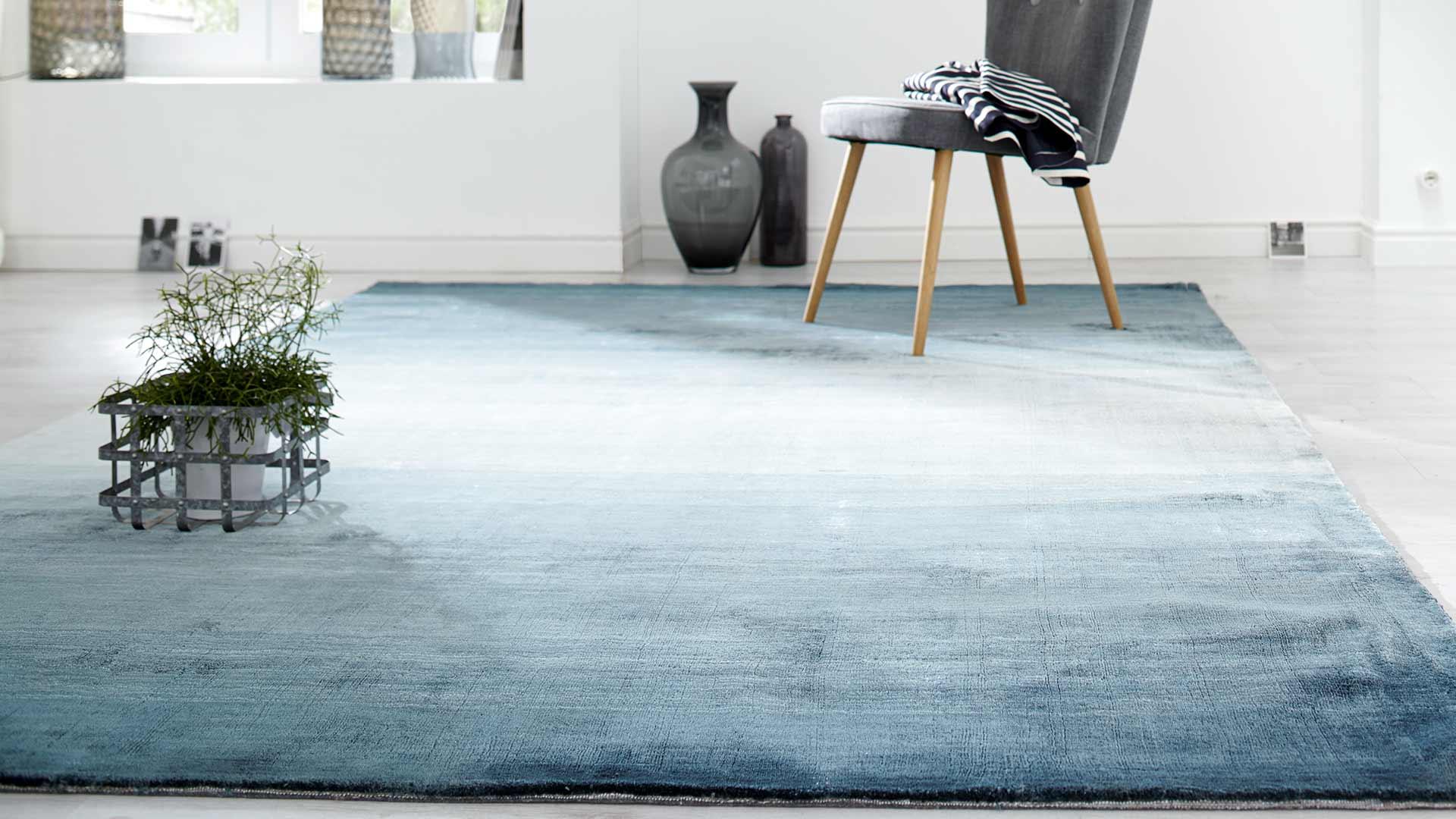 Tt spirit cm teppich in blau beige weiß unbestimmt